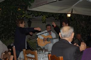 Women Dancing in Athenian Restaurant
