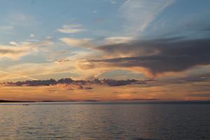 Sunset, Parksville Beach, Vancouver Island, British Columbia
