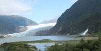 Mendenhall Glacier and Nugget Falls, Juneau Alaska