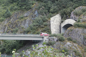 The Tunnel between Wittier and Portage, Alaska