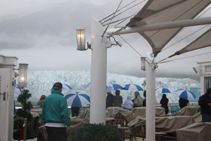 Viewing Margerie Glacier from The Sanctuary, Glacier Bay Alaska