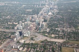 Landing in Toronto