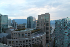 Vancouver Library at Sunrise